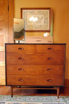Laura's Dresser and my cigar box turned jewelry box