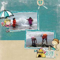Love all the whimsical elements to scrap your summer fun!