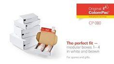 #ColomPac® CP 080 Modular boxes 1-4. • #Dinkhauser Kartonagen Vertriebs GmbH, #Selbstklebeverschluss, #Aufreißfaden, #Versandverpackung, #Paket, #Wellpappe, #Maxibrief, #Kleinteile, #Ersatzteile, #Modeversandversand, #Kosmetik