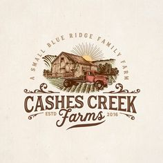 New logo and brand identify for Cashes Creek Farms-a boutique family farm Designers choose,Light neutrals,Blues,like the background and simple black font.,looking at a different idea using R 180 degrees (symbol) Agriculture by Logo Inspiration, Goat Logo, Agriculture Logo, Dog Branding, Web Design, Graphic Design, Farm Logo, Famous Logos, Education Logo