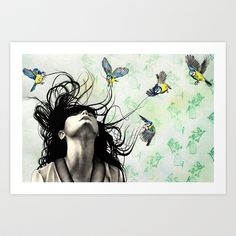 Take Me Away Art Print by KatePowellArt - $17.00