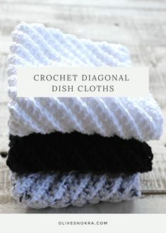 Crochet Diagonal Dish Cloths