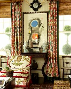 Beautiful ikat fabric....Cote de Texas ❤
