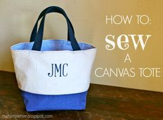 """""""C"""" is for Canvas Tote"""