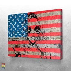 American pop culture This canvas is made for pop art fans. When you buy it with framed option you will hang it in any wall ! Dope Cartoon Art, Dope Cartoons, Pop Art Makeup, Canvas Wall Art, Canvas Prints, Glitch Wallpaper, American Flag, Folk Art, Pop Culture