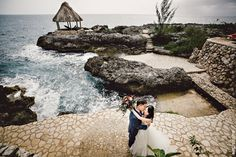 Tensing Pen, Jamaica Wedding - einphoto.com Lovely photo of our bride and groom, post-wedding, in front of the Hammock Hut. tensingpen.com/weddings Jamaica Wedding, Destination Wedding, Wedding Planning, Post Wedding, Ibiza, Hammock, Groom, Weddings, Bride