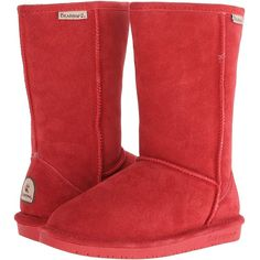 Bearpaw Emma (Cranberry) Women's Pull-on Boots ($18) ❤ liked on Polyvore…