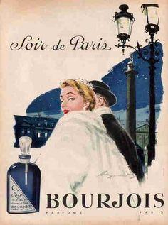 Soir de Paris BOURJOIS 1956 affiche de Raymond