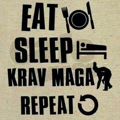 Eat, sleep, krav maga, repeat! Mada Krav Maga in Shelby Township, MI teaches realistic hand to hand combat that uses the quickest methods to attack the weakest and most vital targets of both armed and unarmed assailants! Visit our website www.madakravmaga.com or call (586) 745-1171 for more details!