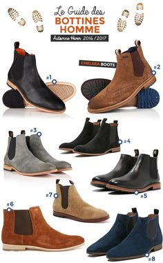 Guide des Bottines Homme spécial Automne / Hiver 2018 2019 Selection of Men's Ankle Boots – Chelsea Boots The Stars of Autumn in Men's Shoes – Fall Winter 2016 2017 Mens Business Casual Shoes, Gents Shoes, Chelsea Boots Outfit, Mens Boots Fashion, Stylish Mens Outfits, Leather Boots, Shoe Boots, Mens Shoes Boots, 2017 Image