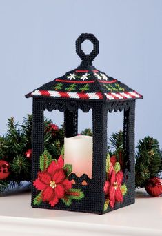 Mary Maxim - Christmas Lantern Plastic Canvas Kit - New ItemsYou can find Plastic canvas crafts and more on our website.Mary Maxim - Christmas Lantern Plastic Canvas Kit - New Items Plastic Canvas Ornaments, Plastic Canvas Tissue Boxes, Plastic Canvas Crafts, Plastic Canvas Patterns, Plastic Craft, Christmas Lanterns, Christmas Crafts, Christmas Decorations, Christmas Christmas