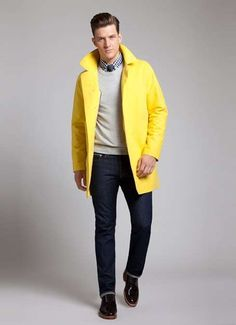 bright trench #trench #coat #menstyle #menswear #outerwear