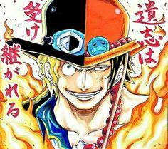 Ace sabo one piece Anime D, Anime Meme, Anime Comics, One Piece Drawing, One Piece Manga, Geeks, Sabo One Piece, Anime Siblings, Ace Sabo Luffy