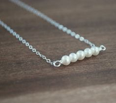 Hey, I found this really awesome Etsy listing at https://www.etsy.com/listing/199998599/freshwater-pearl-bar-sterling-silver