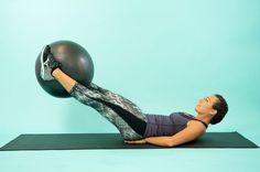 How to Do a Swiss Ball Leg Lift