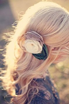 Natural Wedding HairStyles ♥ Half Up Wedding Hairstyle