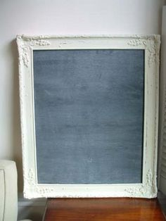 DIY framed chalkboard... for Bible verses and inspirational quotes