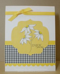 CHA Envy - Enjoy your day! - Stamps by Gina K Designs - made in 2010