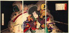 Kunichika (Triptych) - The Giant Toad