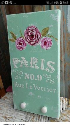 Mural Wall Art, Garden Crafts, Shabby Chic Decor, Chalk Paint, Diy Art, Painted Furniture, Diy And Crafts, Craft Projects, Crafty
