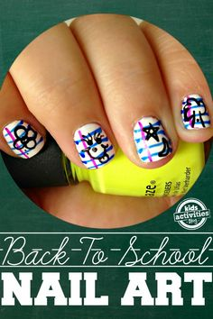 Back To School Notebook Paper Nail Art - Kids Activities Blog