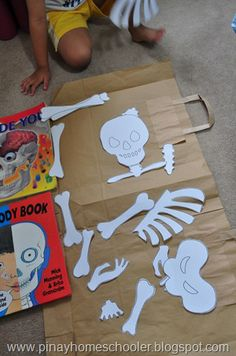 The Skeletal System Awesome link for print out of bones so kids can each do their own. Kindergarten Science, Teaching Science, Science For Kids, Science Activities, Science Projects, Life Science, Human Body Unit, Human Body Systems, Human Human