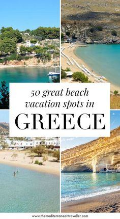 Are you looking for the best beach destinations in Greece? Here's a lovely big list of the 50 prettiest places, small beach towns and scenic villages for a summer holiday in Greece. #greece #greekislands #beach #europe #travel #tmtb Beach Vacation Spots, Greece Vacation, Greece Travel, Beach Trip, Beach Travel, Europe Destinations, Europe Travel Guide, Travelling Europe, Holiday Destinations