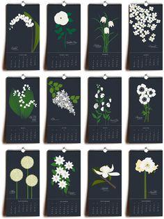 Botanical Calendar-2013.  Snow & Graham.  botanicalgrid_550