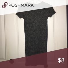Dark grey bodycon dress Tight cotton dress that goes slightly above the knee. In great condition! Forever 21 Dresses Mini