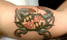 Thinking of doing something like this with a blue crab on my Maryland sleeve