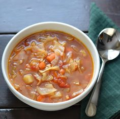 From Fast Food to Fresh Food: Sweet and Sour Cabbage Soup #SundaySupper