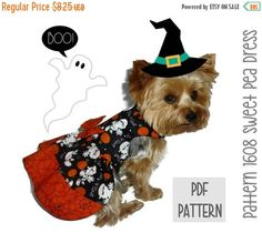 ON SALE Halloween Dog Dress SEWING Pattern  1608 by SofiandFriends