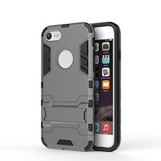 nice iPhone 7 Case,Twotwowin Design Shockproof Protective Cover for Apple iPhone 7 4.7 (Grey)
