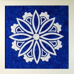 """""""Snowflake"""" from C&T Publishing's book """"Flip & Fuse Quilts"""" by Marcia Harmening of Happy Stash Quilts"""