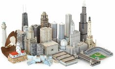 Scale models of famous Chicago buildings. I've made a complete scale unit to go along with each of the 27 Chicago buildings. (for middle schoolers) If you're interested in looking at it, comment on here with your email and I can send it to you!