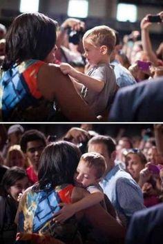Michelle loves the kids!