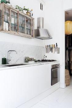 moderne keuken , oude bovenkastjes
