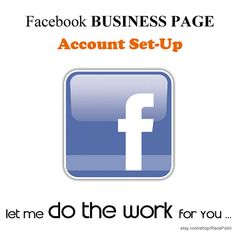 Facebook Business Page Account SETUP Services social by RacePoint, $75.00