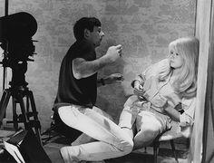 Polanski: Roman Polanski working with Catherine Deneuve on the set of Repulsion; 1965