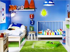 bedroom 30 great ideas for shared kids room shared kids room blue wall - Childrens Bedroom Wall Painting Ideas