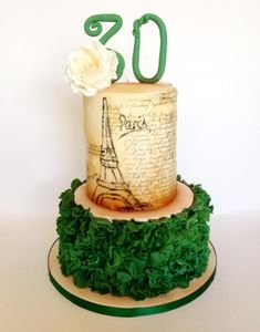 Vintage Paris Cake - Cake by Claire Neal