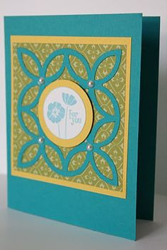 The Pursuit of Stampin'ess: Punch Bunch and Lattice die by Stampin Up and me