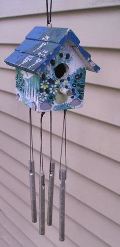 birdhouse with chimes