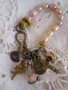 ❥ fresh water pearls...love all the charms