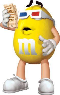 Yellow M & M