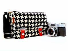 houndstooth camera bag