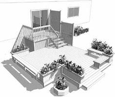 Aménagement Moineau Oriole — Terrasses de patio en bois traité
