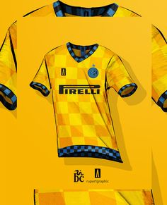Inter classic +checkered concept on Behance Football Kits, Soccer Players, Art Direction, Product Design, Behance, Concept, Classic, T Shirts, Women