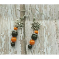 Halloween Beads, Halloween Earrings, Halloween Jewelry, Halloween Gifts, Gemstone Earrings, Etsy Earrings, Spider Earrings, Fall Jewelry, Gift Tags