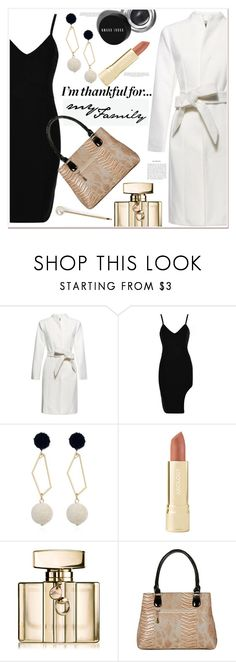 """""""I'm thankful for...."""" by mycherryblossom ❤ liked on Polyvore featuring Bobbi Brown Cosmetics, Axiology, Gucci and L. Erickson"""